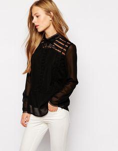 Vila Lace High Neck Blouse! Now on http://ootdmagazine.com/store/product/vila-lace-high-neck-blouse/ #fashion