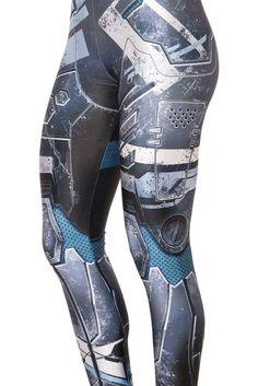 (XL) Black Milk Mecha Leggings
