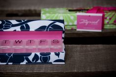 Gift Giving Bundle - Style Rx™ Designer Pill Box Case - Set of Two from Inspired by Dawn Fish Oil Capsules, Day Designer, Gift List, Gift Packaging, Giving, Are You The One, Mother Day Gifts, Pattern Design, Custom Design