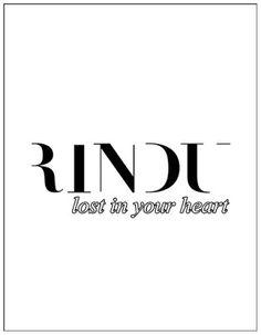 RINDU PUCCINO: RINDU HAS LOST