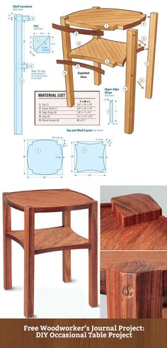 FREE DIY Occasional Table Project from Woodworker's Journal: http://www.rockler.com/how-to/occasional-table-project/