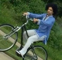 Prince out on a bike? Who knew?