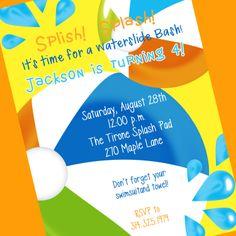 Swimming Party Invitation Printable Invitation by cardsbycarolyn