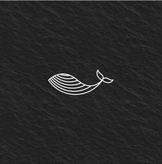 Whale Logo Design by Cute Tattoos, Tatoos, Small Tattoos, Illustration Ligne, Whale Logo, Bullet Journal Ideas Pages, Ink Illustrations, Cute Cartoon Wallpapers, Diy Embroidery