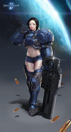 ArtStation - starcraft 2 Marine fanart, 보연 원