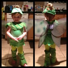 Home made tinker bell costume