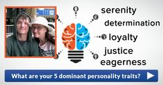 What are your 5 dominant personality traits?
