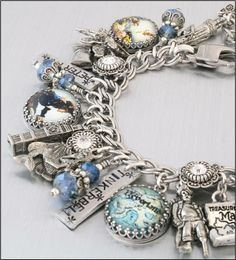 Off to Neverland, Peter Pan & Tinkerbell Charm Bracelet  by BlackberryDesigns, $87.00