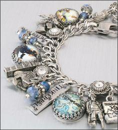 Silver Charm Bracelet Peter Pan Jewelry by BlackberryDesigns, $123.00