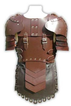 Women Leather Body Armor -back