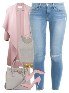 """Untitled #1485"" by power-beauty ❤ liked on Polyvore featuring Chloé, Michael Kors, Chanel, Frame Denim, Christian Louboutin, women's clothing, women's fashion, women, female and woman"