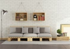 Lixe e envernize a madeira para fazer um sofá bonito e econômico. Foto: archideaphoto/iStock