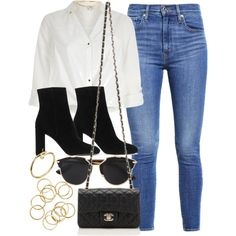 #14763 by vany-alvarado on Polyvore featuring moda, River Island, Levi's, Yves Saint Laurent, Chanel and Christian Dior