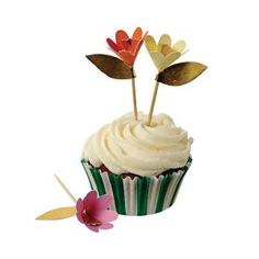 Fancy flowers cupcake kit for Easter cupcakes Garden Cupcakes, Easter Cupcakes, Flower Cupcakes, Wedding Cupcakes, Cupcake Cases, Cupcake Picks, Cupcake Stands, Mothers Day Cupcakes, White Cupcakes