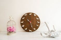 Dog clock different breeds Set1 children clock pet by MustHaveGift