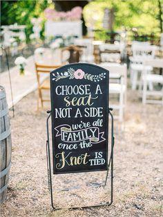 pick a seat wedding ceremony sign @weddingchicks