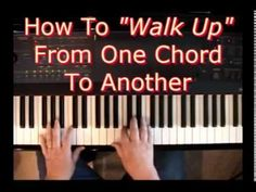 How To Walk Up From One Chord To Another - YouTube