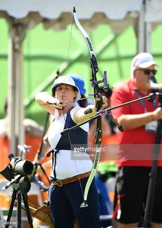 #RIO2016 Naomi Folkard of Great Britain competes during the Women's Ranking Round on Day 0 of the Rio 2016 Olympic Games at the Sambodromo Olympic Archery venue on August 5, 2016 in Rio de Janeiro, Brazil.