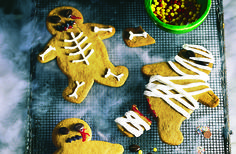 Turn your gingerbread men into zombies with this fun Halloween recipe — a great one to bake with the kids too
