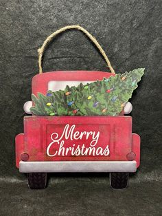 Christmas Red Truck, Christmas Art, Christmas Ornaments, Dollar Tree Crafts, Truck Bed, Little Red, Diy Projects, Farmhouse, Diy Crafts