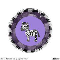Cute zebra cartoon chewing gum favors