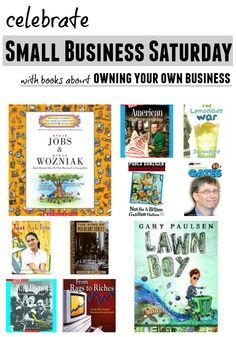 Books for budding entrepreneurs to celebrate Small Business Saturday.
