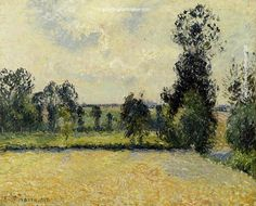 Camille Pissarro Field of Oats in Eragny, 1885 painting gallery, painting Authorized official website