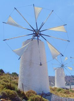 "vwcampervan-aldridge: ""Traditional Windmills at Lasithi Plateau, Crete… Greece Travel, Italy Travel, Wind Of Change, Crete Greece, Acropolis, Perfect World, Le Moulin, Ancient Greece, Oh The Places You'll Go"