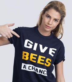 Give Bees a Chance - Save the Bees T-shirt | ALLRIOT Cool Political T-shirts | Global Activist Tshirt Brand UK