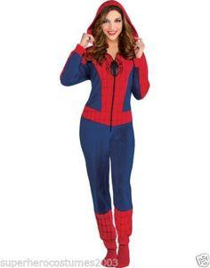 ea06cda07edc The Amazing Spider-Man Spider-Girl Costume Cozie Jumpsuit Pajamas Size  Large-XL