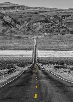 A Dry and Lonely Road in Death Valley - Photo by Adam Allegro