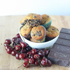 Cherry Chocolate Almond Muffins | Paleo Kosher Kitchen