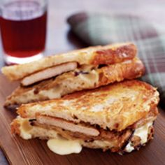 Seared Pork and Pickled Eggplant Panini! Tarragon, parsley and garlic give it the flavor. From Barbara Lynch on Food.