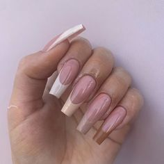 Brown Acrylic Nails, Bling Acrylic Nails, Simple Acrylic Nails, Square Acrylic Nails, Best Acrylic Nails, Gel Nails, Manicure, Coffin Nails Matte, Brown Nails