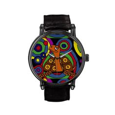 Colorful Turtle Art Wristwatch #turtles #box #art #abstract #watches And www.zazzle.com/inspirationrocks*
