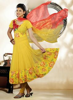Sparkling Yellow Salwar Kameez | StylishKart.com