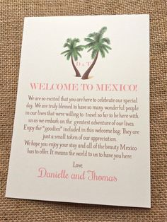Wedding Welcome Letters on Pinterest Welcome Bags, Wedding Welcome ...