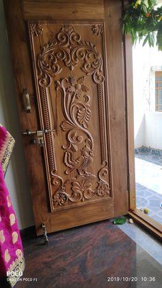 Single Main Door Designs, House Main Door Design, Wooden Front Door Design, Pooja Room Door Design, Door Gate Design, Door Design Interior, Window Design, Wooden Doors, Door Design Images