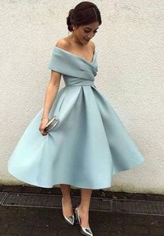 Elegant Knee Length Prom Dresses,Vintage Homecoming Dresses,Off-the-Shoulder Bridesmaid Dresses,Elegant Prom Dress,#bridesmaiddress,#vneck,#elegant,#prom,#dress