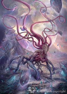 Eldrazi Scion Custom Tokens MTG Battle for Zendikar Monster Concept Art, Fantasy Monster, Monster Art, Creature Concept Art, Creature Design, Fantasy Creatures, Mythical Creatures, Dark Fantasy, Fantasy Art