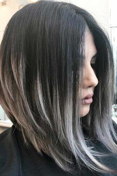 Ash Ombre Inverted Bob Hairstyles ★ Edgy bob haircuts are best for those of you who are dreaming of some change in your lives but have no clue what to start from. Check out our best bob haircuts! Edgy Bob Haircuts, Inverted Bob Hairstyles, Layered Haircuts, Haircuts For Medium Hair, Loose Hairstyles, Everyday Hairstyles, Hairstyles Haircuts, Highlights For Dark Brown Hair, Hair Highlights