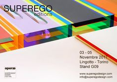 From the 3rd to the 5th of November we will attend 'Operae' Indipendent Design Festival in Torino - Lingotto