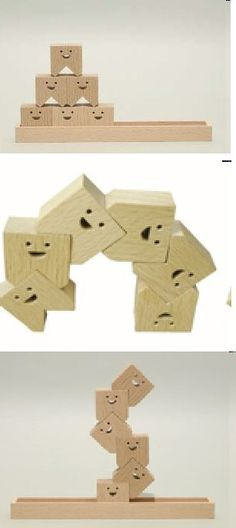 Wooden Molars to stack in crazy shapes. #dentaltoys http://Dentists4kids.com | #pediatricdentist | http://www.dentists4kids.com