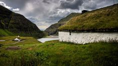 Grass roofs in Saksun, Faroe Islands