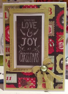 Craftwork Cards Festive Chalkboard: love & joy