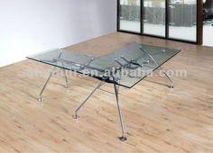 2802 templado de vidrio de la oficina ejecutiva escritorio clara-