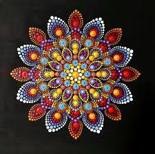 Beautiful mandala hand painted by dots Mandala Design, Mandala Pattern, Dot Art Painting, Painting Patterns, Stone Painting, Mandala Canvas, Mandala Artwork, Mandalas Painting, Mandalas Drawing