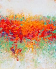 Original art for sale at UGallery.com | Summer Red by DON BISHOP | $900 | Acrylic painting | 30' h x 24' w | http://www.ugallery.com/acrylic-painting-summer-red