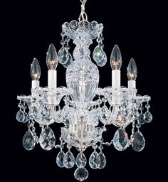 Swarovski Lighting, Ltd. includes two distinct premium consumer lighting brands; Swarovski, with its contemporary aesthetic, and Schonbek, with its classic designs. Chandelier For Sale, 5 Light Chandelier, Glass Chandelier, Crystal Chandeliers, Schonbek Chandelier, Decoration, Swarovski Crystals, Herb, Silver