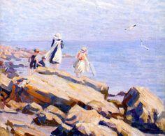Children on the Rocks - c 1910
